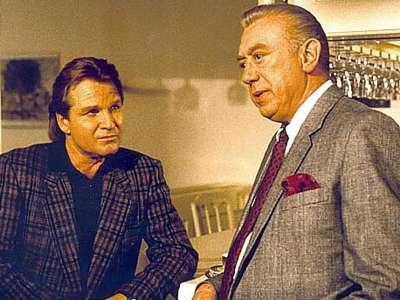 Horst Tappert en Fritz Wepper in 'Derrick'